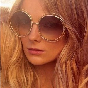 Chloe Carlina CE114S Gold/Brown sunglasses